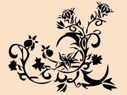 Samolepky na zeď Květiny 009
