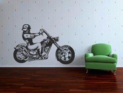 Samolepky na zeď Motorka 009