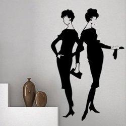 Samolepky na zeď Retro ženy v šatech 1060