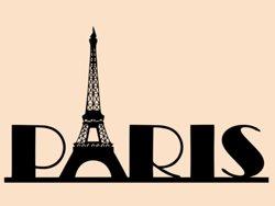 Samolepky na zeď Paříž 008