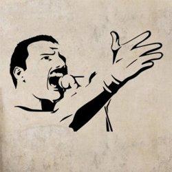 Samolepky na zeď Freddie Mercury 1361