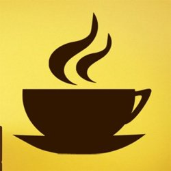 Samolepky na zeď Hrnek kávy 0047
