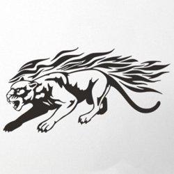 Samolepky na zeď Tygr s plameny 005