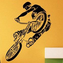 Samolepky na zeď BMX biker 1048