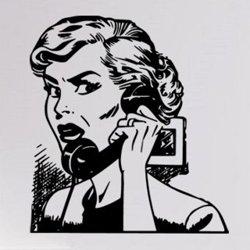 Samolepky na zeď Žena telefonuje 1075