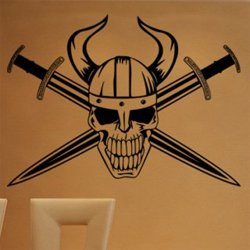 Samolepky na zeď Lebka se skříženými meči 1160