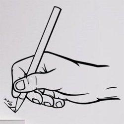 Samolepky na zeď Píšící ruka 0240