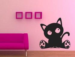 Samolepky na zeď Kočka 002