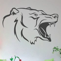 Samolepky na zeď Medvěd 002