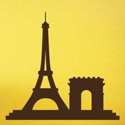 Samolepky na zeď Paříž 009