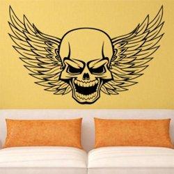 Samolepky na zeď Lebka s křídly 1162