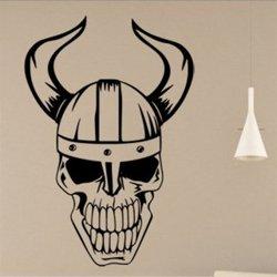 Samolepky na zeď Lebka vikinga 1164