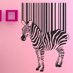 Samolepky na zeď Zebra 016