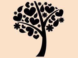 Samolepky na zeď Strom zamilovaných 0219