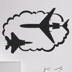 Samolepky na zeď Letadlo 0824