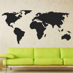 Samolepky na zeď Mapa světa 1229