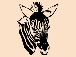Samolepky na zeď Zebra 017