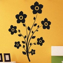 Samolepky na zeď Květina 0212