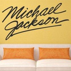 Samolepky na zeď Michael Jackson Podpis 1331
