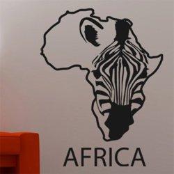 Samolepky na zeď Zebra 009