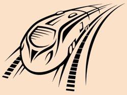 Samolepky na zeď Vlak 002