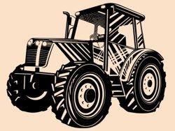 Samolepky na zeď Traktor 003