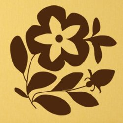 Samolepky na zeď Květiny 022