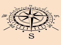 Samolepky na zeď Kompas 0060