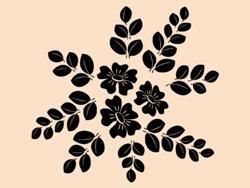 Samolepky na zeď Květiny 026
