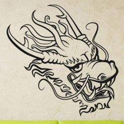 Samolepky na zeď Hlava draka 1253