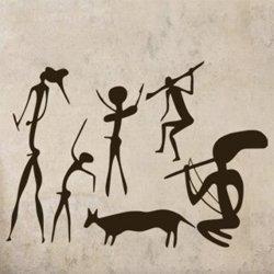 Samolepky na zeď Jeskynní lidé 001