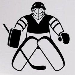 Samolepky na zeď Hokejista 0609