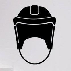 Samolepky na zeď Helma na hokej 0696