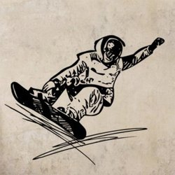 Samolepky na zeď Snowboardista 0969