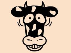 Samolepky na zeď Kráva 002