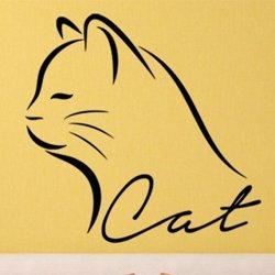 Samolepky na zeď Kočka 0474