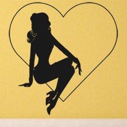 Samolepky na zeď Žena v srdci 1079