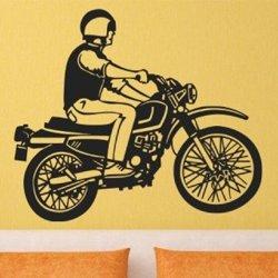 Samolepky na zeď Motorkář 1008