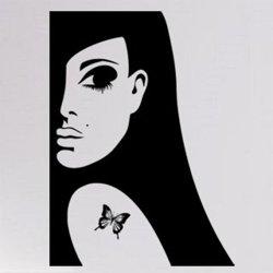 Samolepky na zeď Žena s tetováním 1063