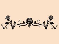 Samolepky na zeď Růže 0186