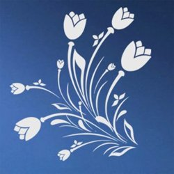 Samolepky na zeď Květiny 038