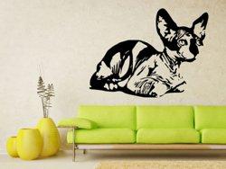 Samolepky na zeď Kočka 0452