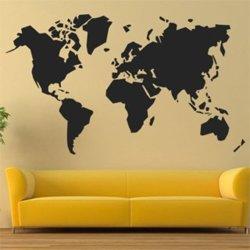 Samolepky na zeď Mapa světa 1230