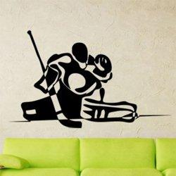 Samolepky na zeď Hokejový brankář 0709