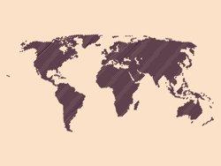 Samolepky na zeď Mapa světa 001