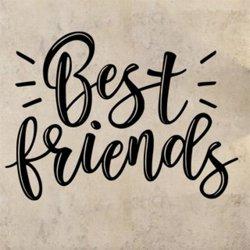 Samolepky na zeď Nápis Best friends 0662
