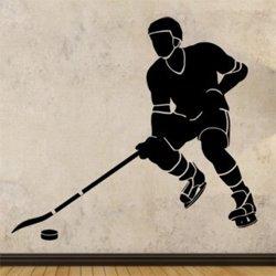 Samolepky na zeď Hokejista 0708