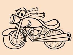 Samolepky na zeď Dětská motorka 1000