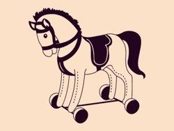 Samolepky na zeď Houpací kůň 001