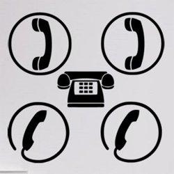 Samolepky na zeď Telefon 0296